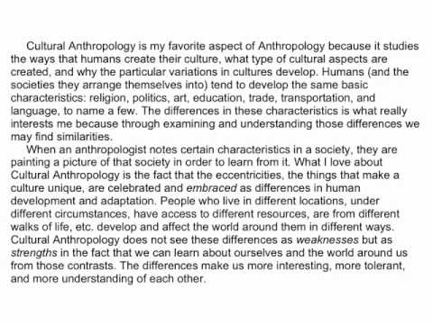 Why I like Cultural Anthropology