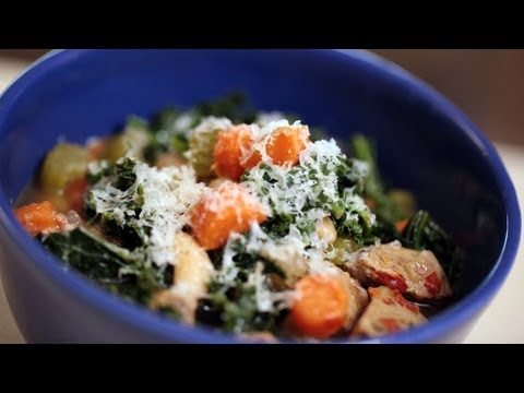 White Bean, Kale & Sausage Soup Recipe (How To Make It) || Kin Eats