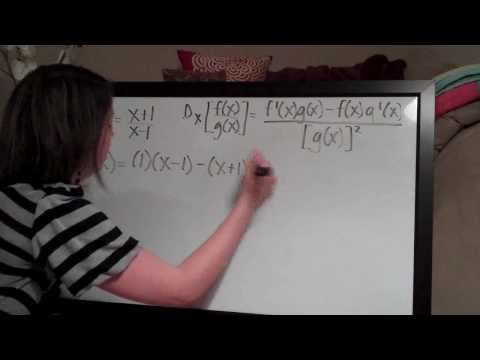 Quotient Rule Example 3
