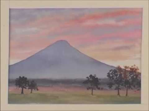 Watercolor Mountains Lesson - Mount Fuji