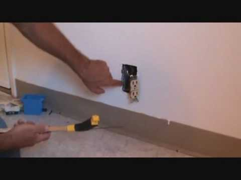 "removing a ""damaged"" electrical outlet box"