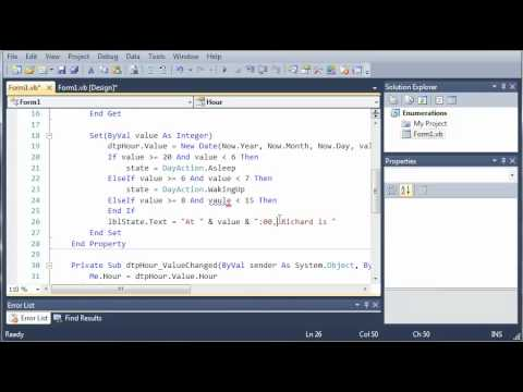 Visual Basic Tutorial - 67 - Finishing The DayAction Program