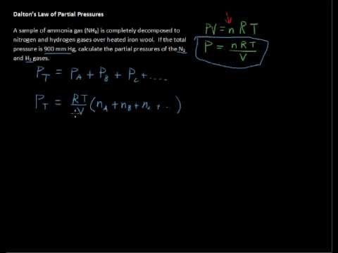 What is Dalton's Law of Partial Pressures? -Chemistry Tips