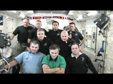 Station, Shuttle Crews Interviewed Together
