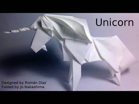 Origami Unicorn (Román Díaz) - not a tutorial