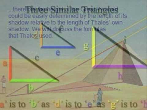 Thales Measures the Height of the Great Pyramid 1