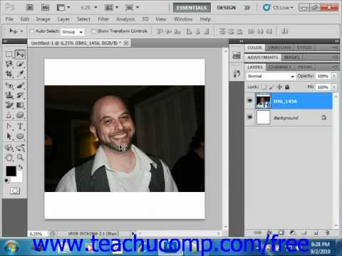 Photoshop CS5 Tutorial Creating Clipping Groups Adobe Training Lesson 10.6