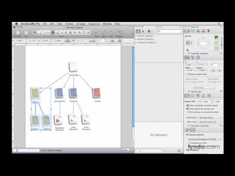 OmniGraffle: Exploring shapes, lines, and groups   lynda.com overview