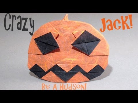 Origami Daily - 039: Halloween Crazy Jack (Jack O' Lantern ver 2) - TCGames [HD]