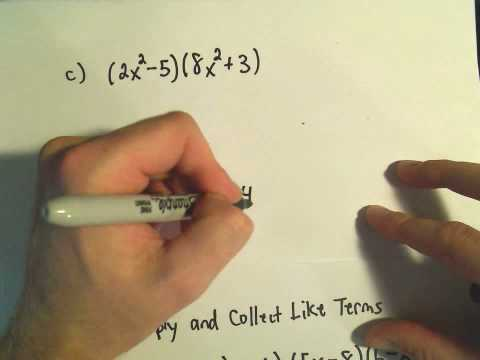 Polynomials: Adding, Subtracting, Multiplying and Simplifying - Example 3