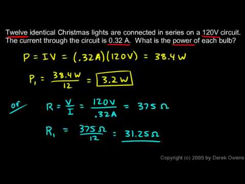 Physics 13.4.3b - Two Series Circuit Examples