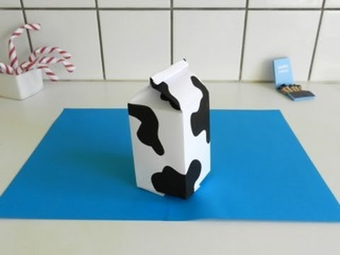 Origami MILK CARTON - made with a4 paper