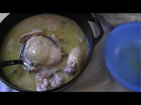 solar oven creamy mushroom chicken
