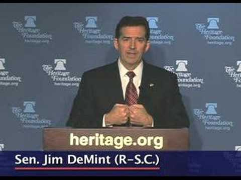 Sen. Jim DeMint on how to change Washington