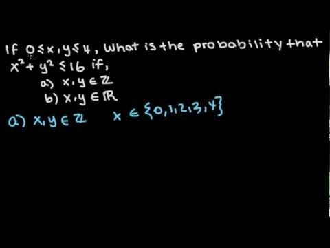 Probability Problem 2 - Find Probability using table and geometry