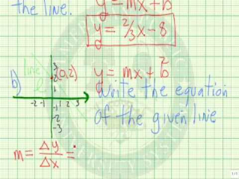 Write the Equation of a Line Given Slope and Y Intercept