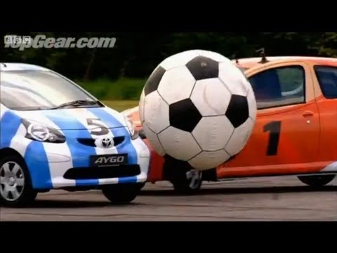 Top Gear - Toyota Aygo car football - BBC