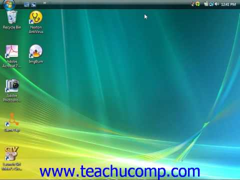 Windows Tutorial Moving and Resizing the Windows Taskbar Microsoft Training Lesson 3.1