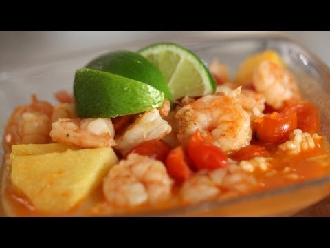 Red Curry: Shrimp, Pineapple, Tomatoes: Recipe (How to Make) || KIN EATS