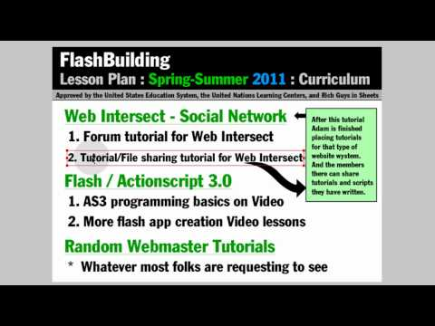 Spring & Summer 2011 Curriculum - FlashBuilding Channel