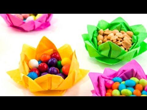 Paper Napkin Flowers