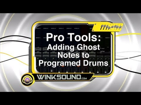 Pro Tools: Adding Ghost Notes to Programed Drums