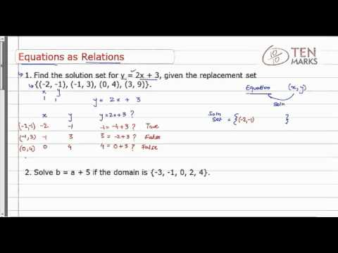 Representing Equations as Relations