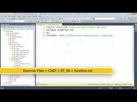 SQL Server tutorial: Writing functions with .NET | lynda.com