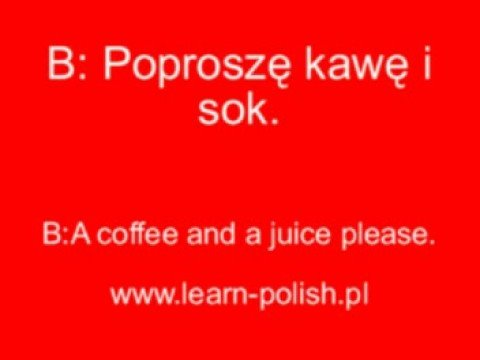 Survival Polish Course. How to order coffe in Polish. Apprendre le polonais -  Cours de polonais