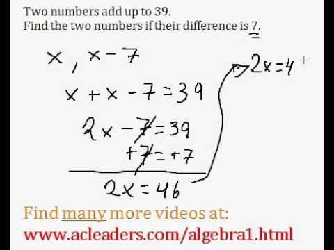Word Problems (Algebra 1) - #2
