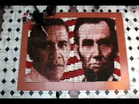 Time Lapse Construction of Presidential Portraits in Cupcakes