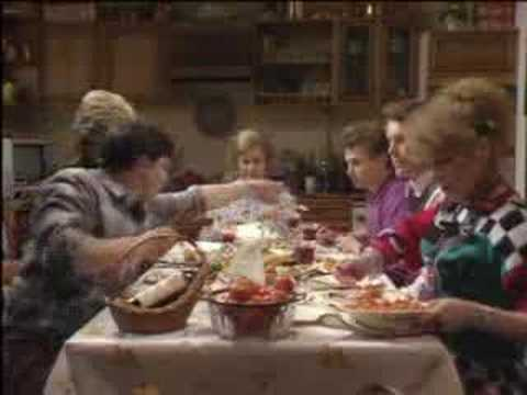 The Boswell dinner table - Bread - BBC classic comedy