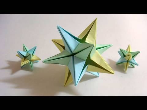 Origami Omega Star (6 modules) - Use in your Christmas decoration!