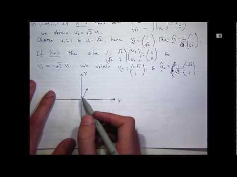 Principal axes theorem + orthogonal matrices