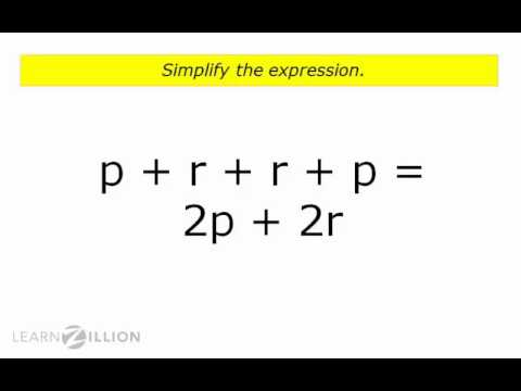 Simplify addition and subtraction expressions by combining like terms - 6.EE.2