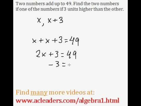 Word Problems (Algebra 1) - #3