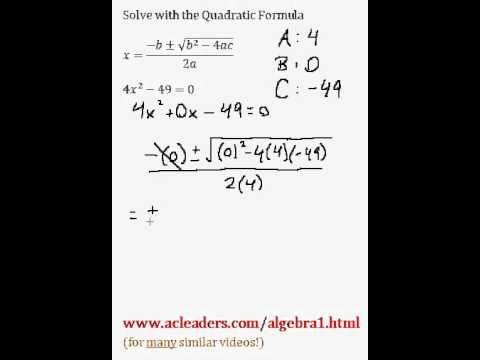 Quadratic Formula - Solving for 'x' in a trinomial expression. EASY!!! (pt. 5)