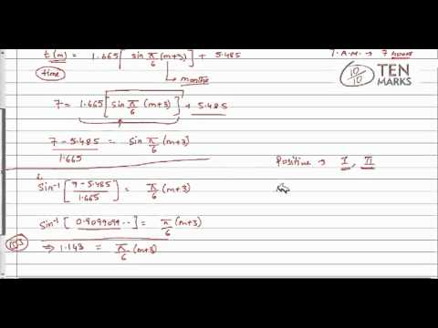 Trigonometric Equations - Application