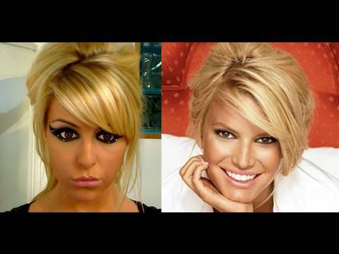 Quick, Messy, Retro Up-Do ~ Jessica Simpson style