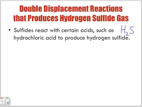 Reactions of Aqueous Solutions Forming Hydrogen Sulfide