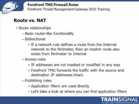 Route vs NAT Routing