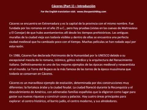 Spanish English Parallel Texts Cáceres (Part 1) Introducción