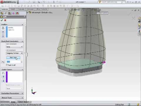 Solidworks 2011 Tutorial Lofted Boss Base