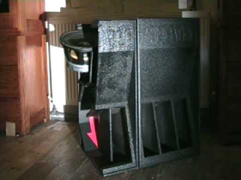 SINBIN-1200. A look inside the Bass cab. See how it works