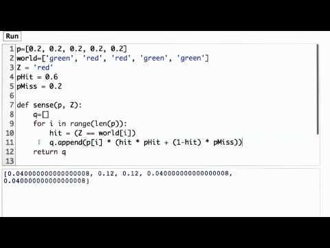 Normalized Sense Function - CS373 Unit 1 - Udacity