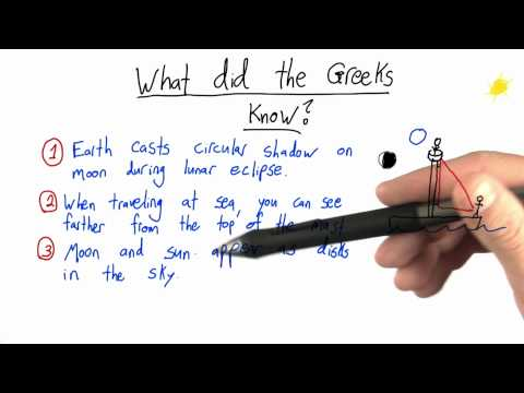 What the Greeks Knew - Intro to Physics - Circumference of Earth - Udacity