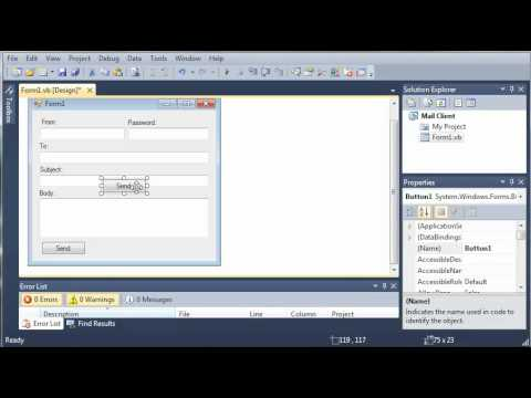 Visual Basic Tutorial - 141 - SMTP Client Part 1   Building The Interface