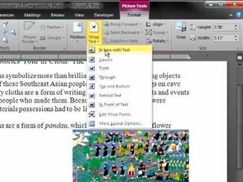 Word 2007-2010: Insert, Resize, Text Wrap Illustrations
