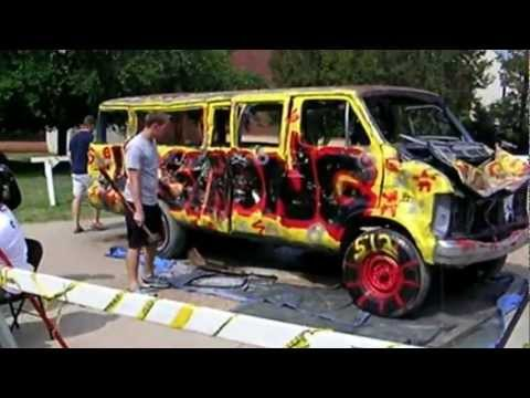 Van Bashing:  Stress-Relieving Fund Raiser