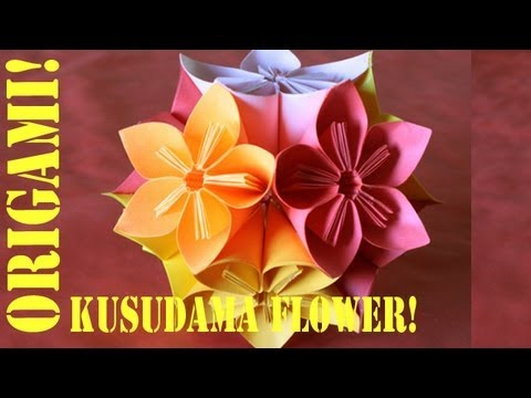 Origami Daily - 238: Modular 12 Unit Flower Ball - TCGames [HD]